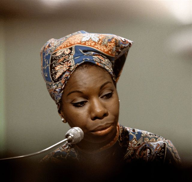 Nina Simone, being black.